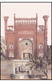 Entrance to the Badshahi Mosque